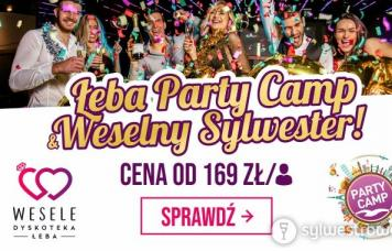 Oferty sylwestrowe - Łeba Party Camp 2019 & Weselny Sylwester